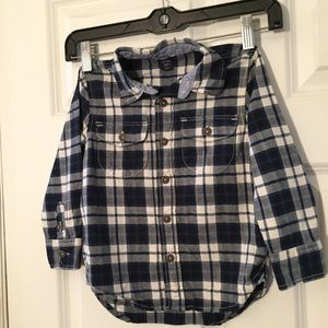 Baby Gap Toddler Blue Plaid Shirt 4years